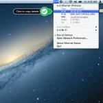 Copy IP and mac address