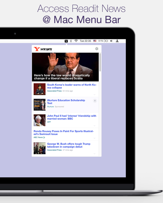 Yahoo! news at your fingure tip