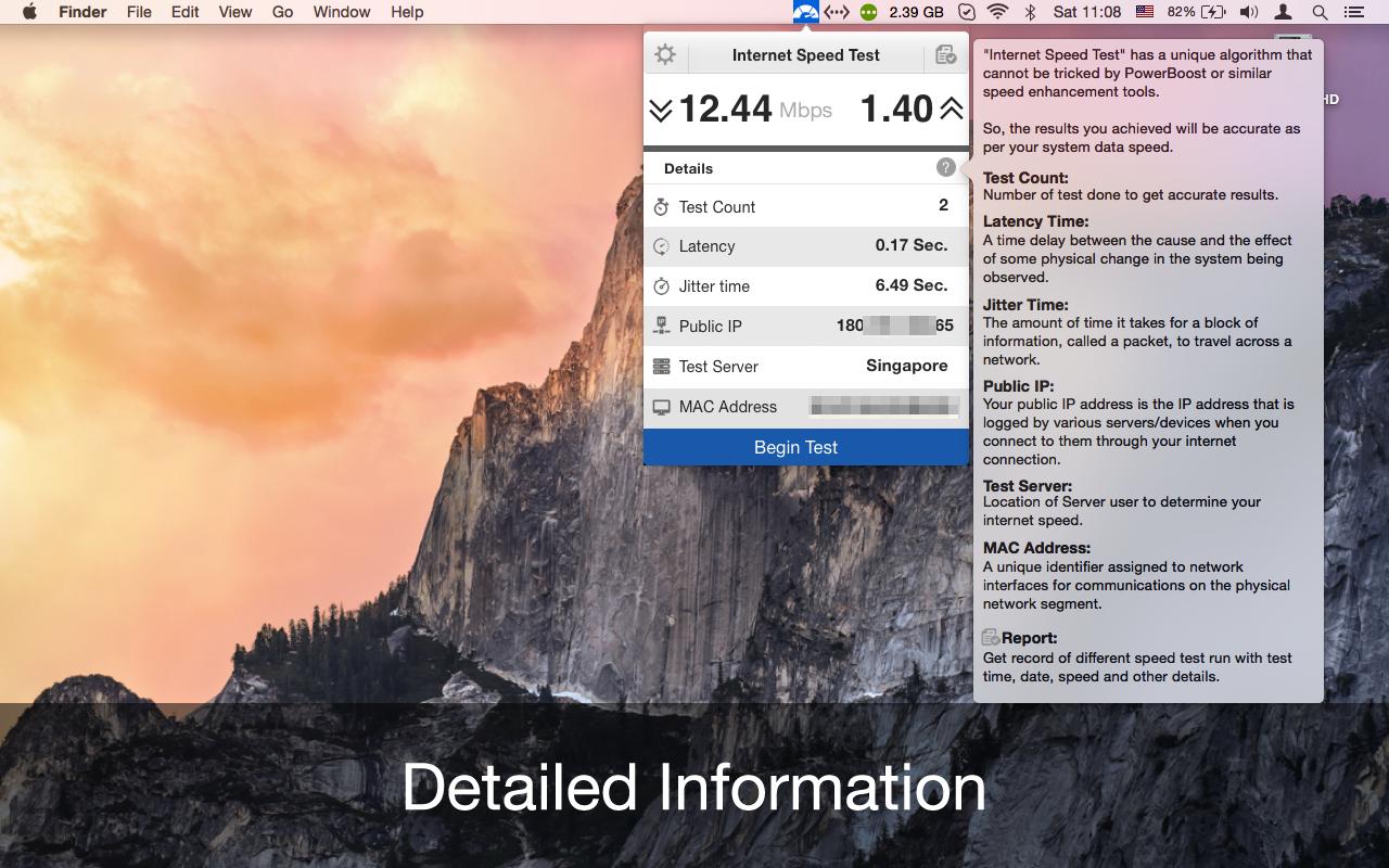Internet Speed Test for Mac | AppYogi Software