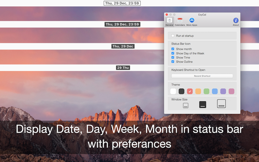 EzyCal 1.9 Mac 破解版 日历管理和提醒工具